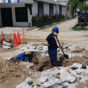 INTERRUPCIÓN DEL SERVICIO EN EL MUNICIPIO DE BARANOA POR FUGA EN TUBERÍA DE 12 PULGADAS