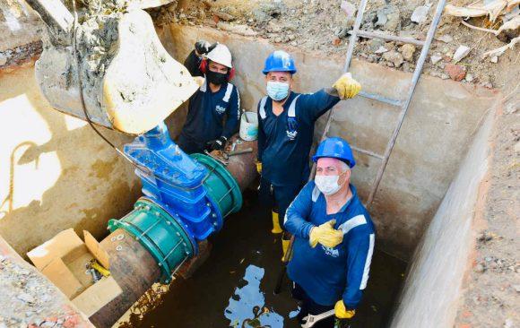 Triple A culmina trabajos de mantenimiento preventivo y correctivo en el sistema de acueducto